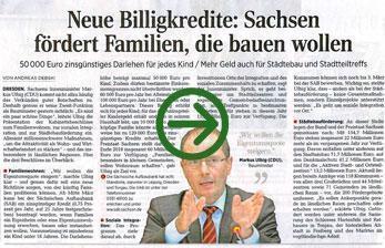 Neue Billigkredite: Sachsen fördert Familien, die bauen wollen